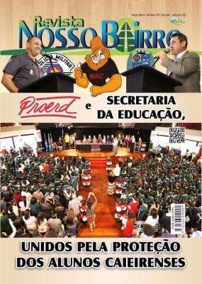 PROERD e Secretaria da Educação, unidos, pela proteção dos alunos caieirense