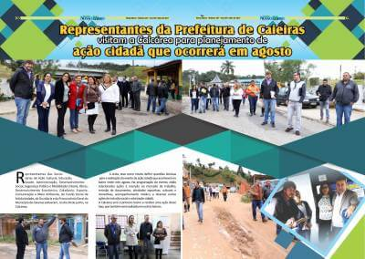 Representantes da Prefeitura de Caieiras visitam aCalcáreapara planejamento de ação cidadã que ocorrerá em agosto