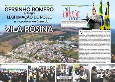Gersinho Romero entrega legitimação de posse a moradores de áreas da Vila Rosina