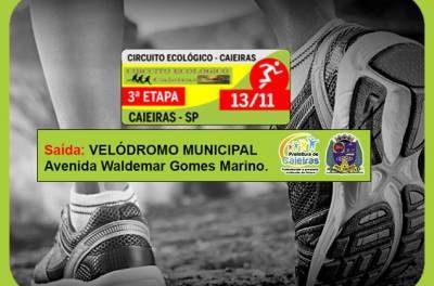 Inscrições para a 3ª etapa do Circuito Ecológico Caieiras 2016 ainda estão abertas