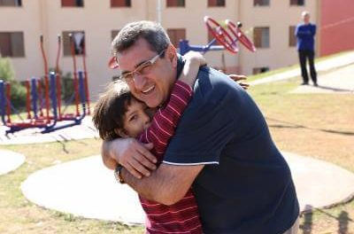 Hamamoto e Gersinho entregaram mais uma Praça da Família para a população caieirense