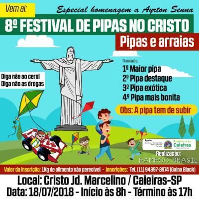 8º Festival de Pipa acontece no dia 15 de julho