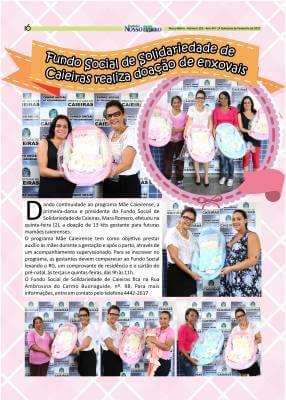 Fundo Social de Solidariedade de Caieiras realiza doação de enxovais