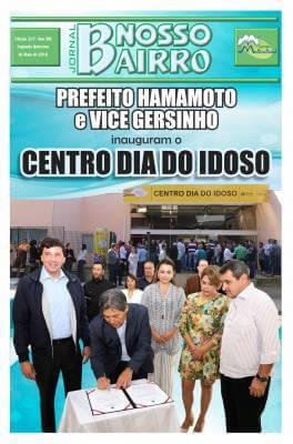 Prefeito Hamamoto e vice Gersinho inauguram o Centro Dia do Idoso