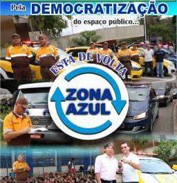 Pela democratização do espaço público… Está de volta, Zona Azul