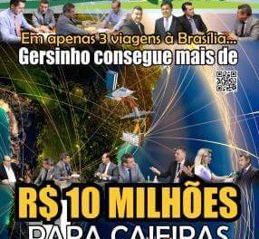 Em apenas três viagens à Brasília… Gersinho consegue mais de  R$ 10 Milhões para Caieiras