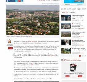 Revista Exame, coloca Caieiras na 58ª posição em desempenho e infraestrutura.