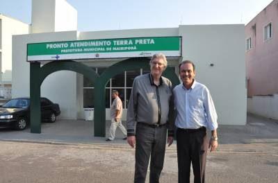 Doutor Marcio Pampuri e Deputado Federal Sérgio Reis vistoriam obras do novo hospital