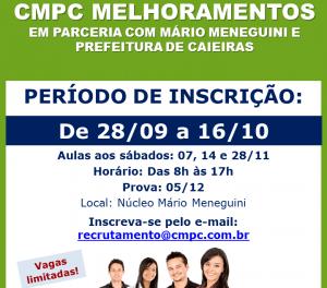Melhoramentos CMPC, em parceria com a Semudec de Caieiras, abre inscrições para curso preparatório