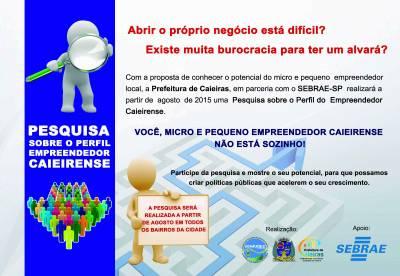 Prefeitura de Caieiras e Sebrae realizarão mapeamento dos microempreendedores individuais da cidade
