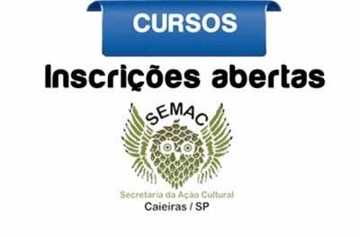 Inscrições para os cursos do Centro Cultural de Caieiras serão abertas no dia 16 de janeiro