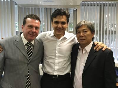 Dr. Panelli e Dr. Roberto conheceram modelo de creche conveniada em São Paulo