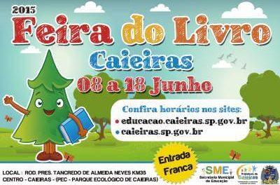 Secretaria de Educação de Caieiras realizará a 7ª Feira do Livro