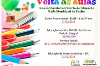 Secretaria de Educação de Caieiras divulga cronograma de volta às aulas