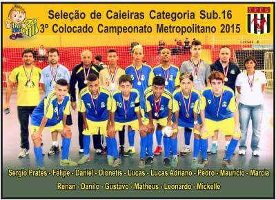 Caieiras conquistou 3ª colocação no Campeonato Metropolitano de Futsal