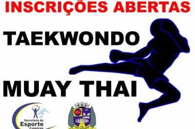 Inscrições para treinos de taekwondo e muay thai estão abertas, informa a Prefeitura de Caieiras