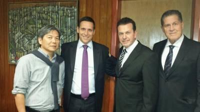 Prefeito Hamamoto e vereador Panelli se reuniram com o presidente da Assembleia Legislativa de São Paulo, Fernando Capez