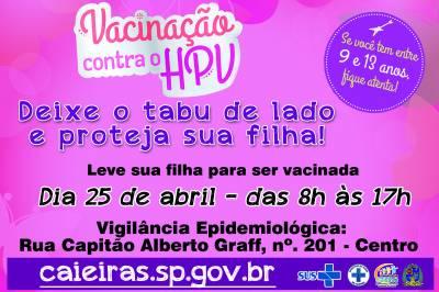 Secretaria da Saúde de Caieiras fará mutirão de vacinação contra o HPV no dia 25