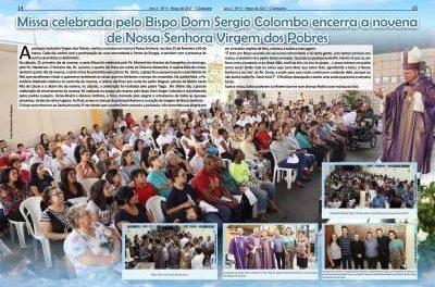 Missa celebrada pelo Bispo Dom Sergio Colombo encerra a novena  de Nossa Senhora Virgem dos Pobres