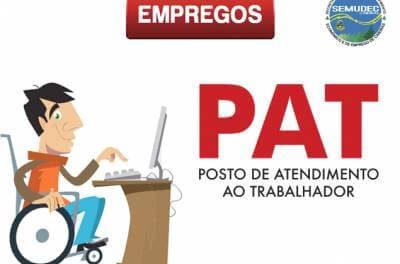 PAT Caieiras tem 40 vagas exclusivas para pessoas com deficiência