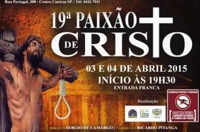 19ª Paixão de Cristo será nesse final de semana