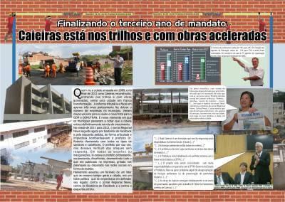 Finalizando o terceiro ano de mandato, Caieiras está nos trilhos e com obras aceleradas