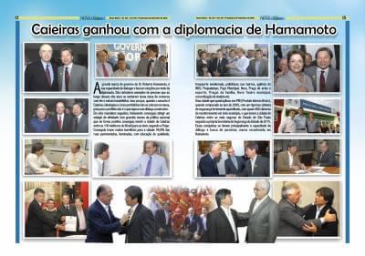 Caieiras ganhou com a diplomacia de Hamamoto