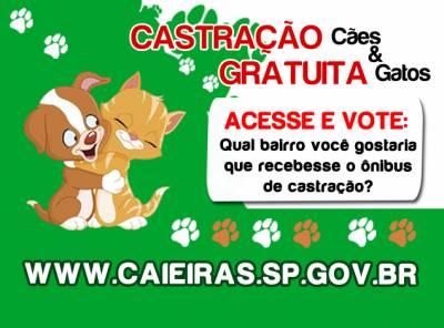 Prefeitura de Caieiras abre nova enquete para a população escolher o próximo destino do Ônibus de Castração