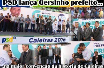 PSD lança Gersinho Romero prefeito, na maior convenção da história de Caieiras