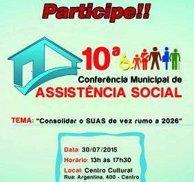 Prefeitura de Caieiras e CMAS realizarão a 10ª Conferência Municipal da Assistência Social