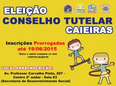 Inscrições para eleição dos Conselheiros Tutelares de Caieiras foram prorrogadas