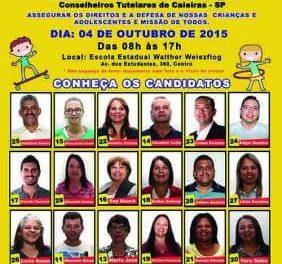 Eleição para o Conselho Tutelar de Caieiras será neste domingo