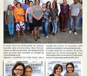 Fundo Social de Solidariedade de Caieiras realizou doação de óculos para munícipes