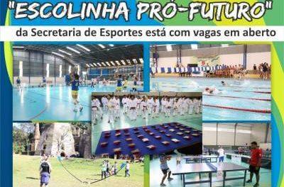 """Projeto """"Escolinha Pró-futuro"""" da Secretaria de Esportes está com vagas em aberto"""