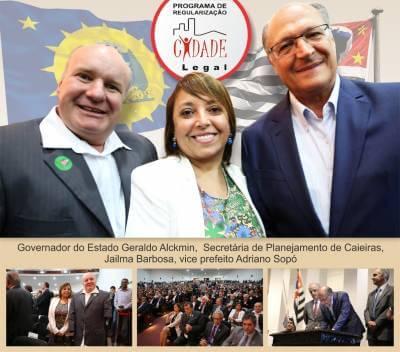 Programa Cidade Legal comemora convênios com o Governo do Estado