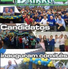 Candidatos inauguram comitês no centro da cidade