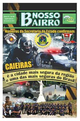 Números da Secretaria do Estado confirmam: Caieiras é a cidade mais segura da região e uma das mais seguras do Brasil