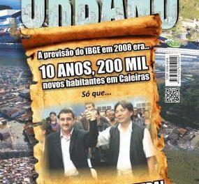 A previsão do IBGE em 2008 era… 10 anos, 200 mil novos habitantes em Caieiras. Só que… A história foi outra!