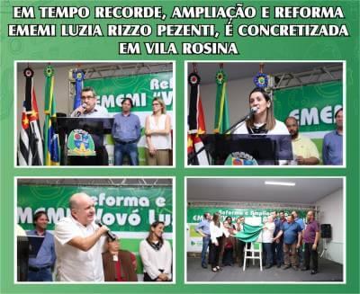 Em tempo recorde, ampliação e reforma EMEMI Luzia Rizzo Pezenti, é concretizada em Vila Rosina