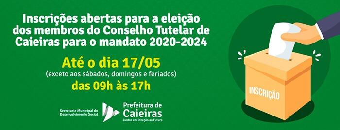 Abertas as inscrições para a eleição dos membros do Conselho Tutelar de Caieiras