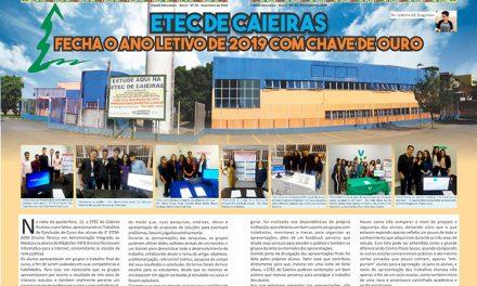 ETEC de Caieiras fecha o ano letivo de 2019 com chave de ouro