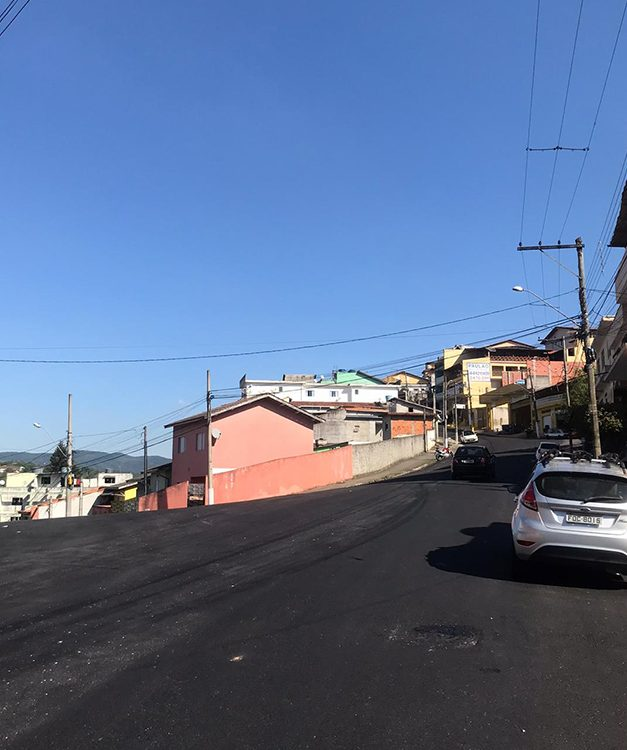 Obras em Caieiras continuam com dezenas de ruas sendo recapeadas no Jardim dos Eucaliptos
