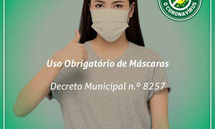 Uso de máscaras será obrigatório em Caieiras a partir de 4 de maio