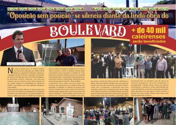 """""""Oposição sem posição"""" se silencia diante da linda obra do Boulevard. + de 40 mil caieirenses serão beneficiados"""