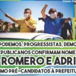 PSD, PDT, Podemos, Progressistas, Democratas e Republicanos confirmam nome de Gersinho Romero e Adriano Sopó como pré-candidatos à Prefeitura