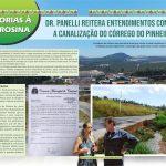 MELHORIAS À VL. ROSINA, Dr. Panelli reitera entendimentos com vistas a canalização do córrego do Pinheirinho