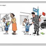 Associação de Oficiais da Polícia Militar entrará com ação contra a escola por charge preconceituosa em avaliação do 8º ano