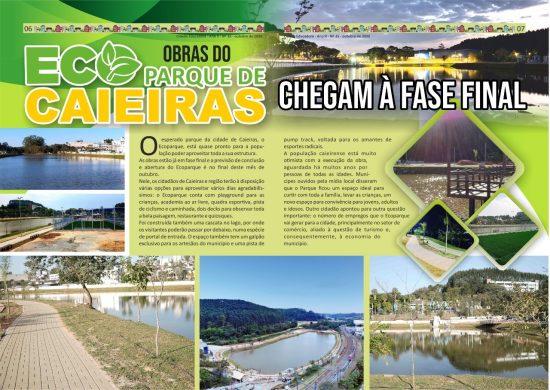 Obras do Ecoparque de Caieiras chegam à fase final