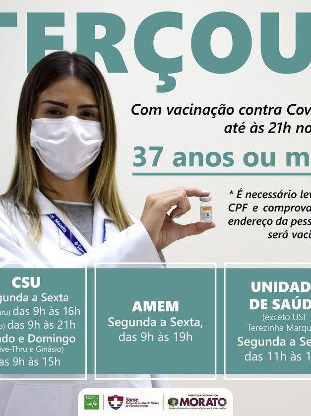 Francisco Morato continua dando aula de saúde e vacinação para a região