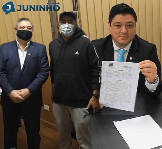 Professor Juninho consegue Emenda Parlamentar junto ao deputado estadual Marcio Nakashima em beneficio dos moradores do bairro São Francisco.